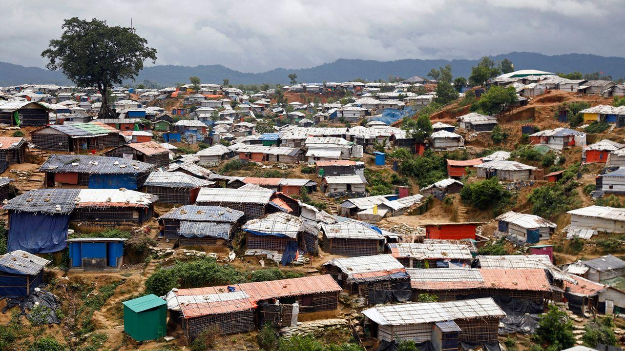 Un camp de réfugiés Rohingya au Bangladesh. [EPA/Monirul Alam - Keystone]
