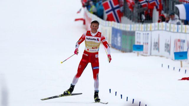 La Norvège emmenée par Johannes Hosflöt Klaebo a triomphé avec la manière. [Matthias Schrader - Keystone]