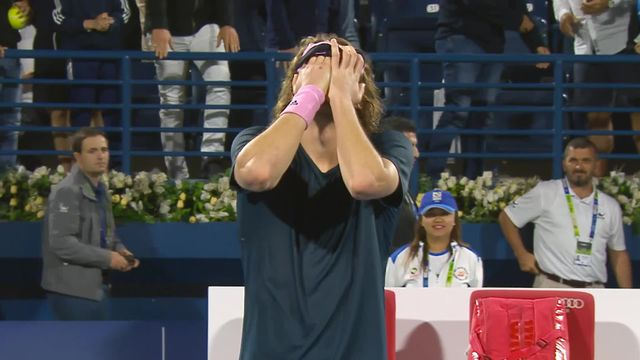 ATP Dubaï, 1-2, S.Tsitsipas (GRE) bat G.Monfils (FRA) (4-6, 7-6, 7-6) et se qualifie pour la finale [RTS]