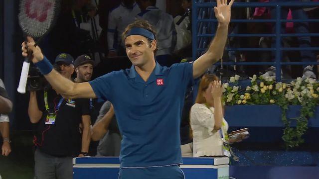 ATP Dubaï, 1-2, R.Federer (SUI) bat B.Coric (CRO) (6-2, 6-2) et affrontera Tsitsipas en finale pour remporter un 100ème titre sur le circuit ATP [RTS]