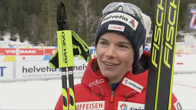 Mondiaux de Seefeld, 30km dames: Von Siebenthal (SUI) au micro de RTSsport [RTS]