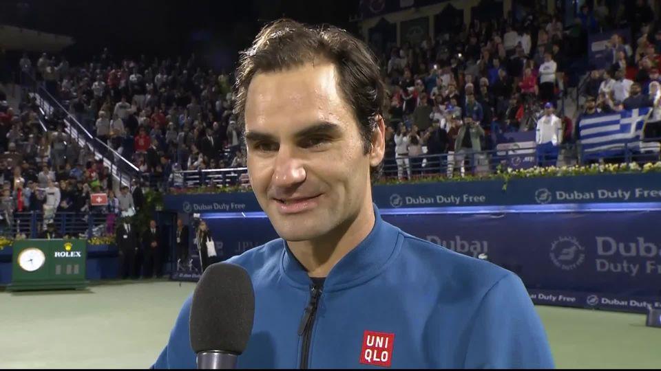 ATP Dubaï, finale: l'interview de Federer juste après sa victoire [RTS]