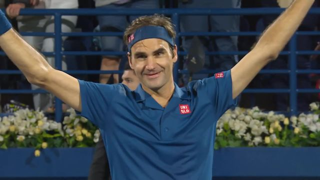 Tennis : Federer remporte sa 100e victoire [RTS]