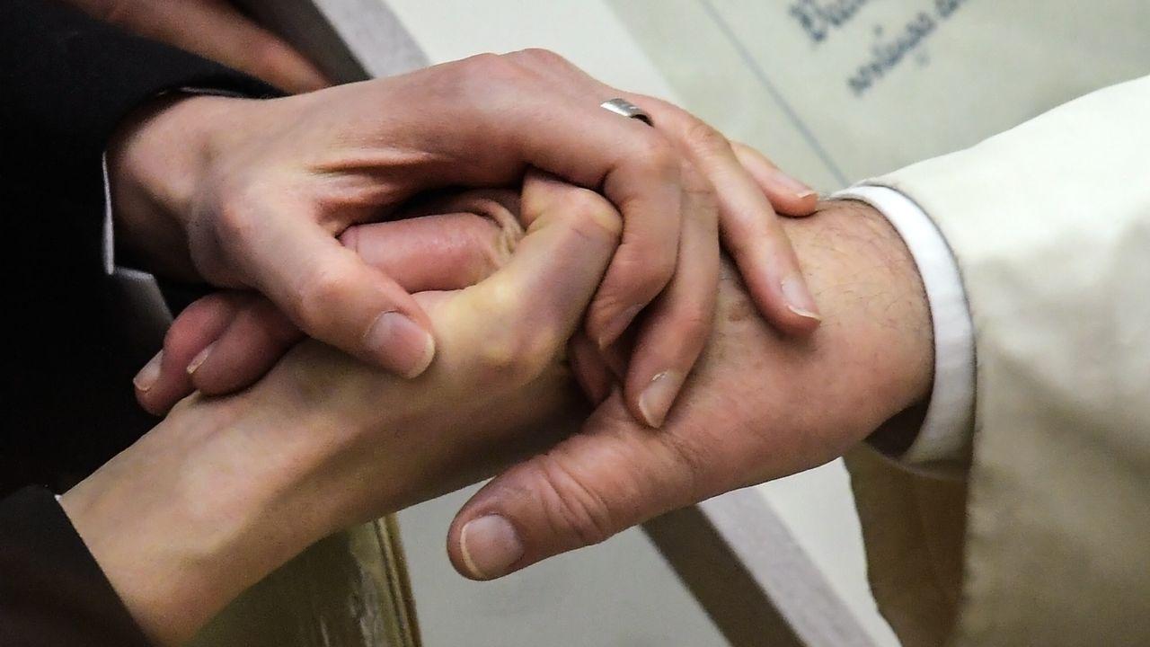 Le pape François a rencontré pour la première fois en personne des victimes suisses d'abus sexuels par des membres du clergé, le 2 mars 2019. (image d'illustration) [Tiziana Fabi - Keystone]