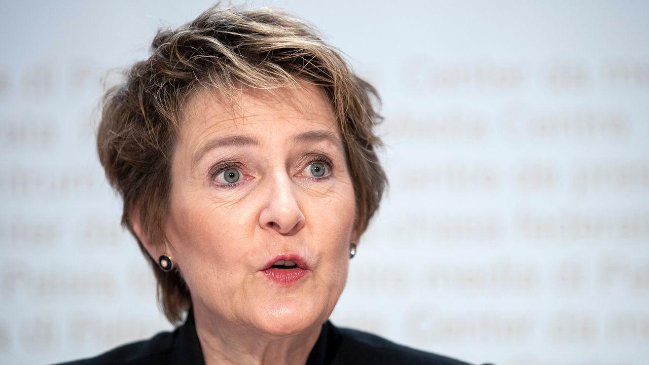 La conseillère fédérale en charge de l'Environnement Simonetta Sommaruga. [Peter Schneider - Keystone]