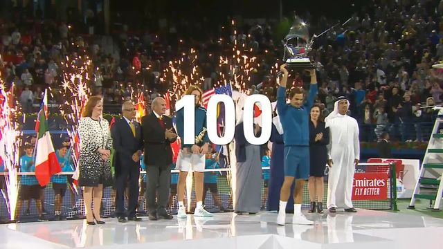 Tennis: les 100 titres de Federer [RTS]
