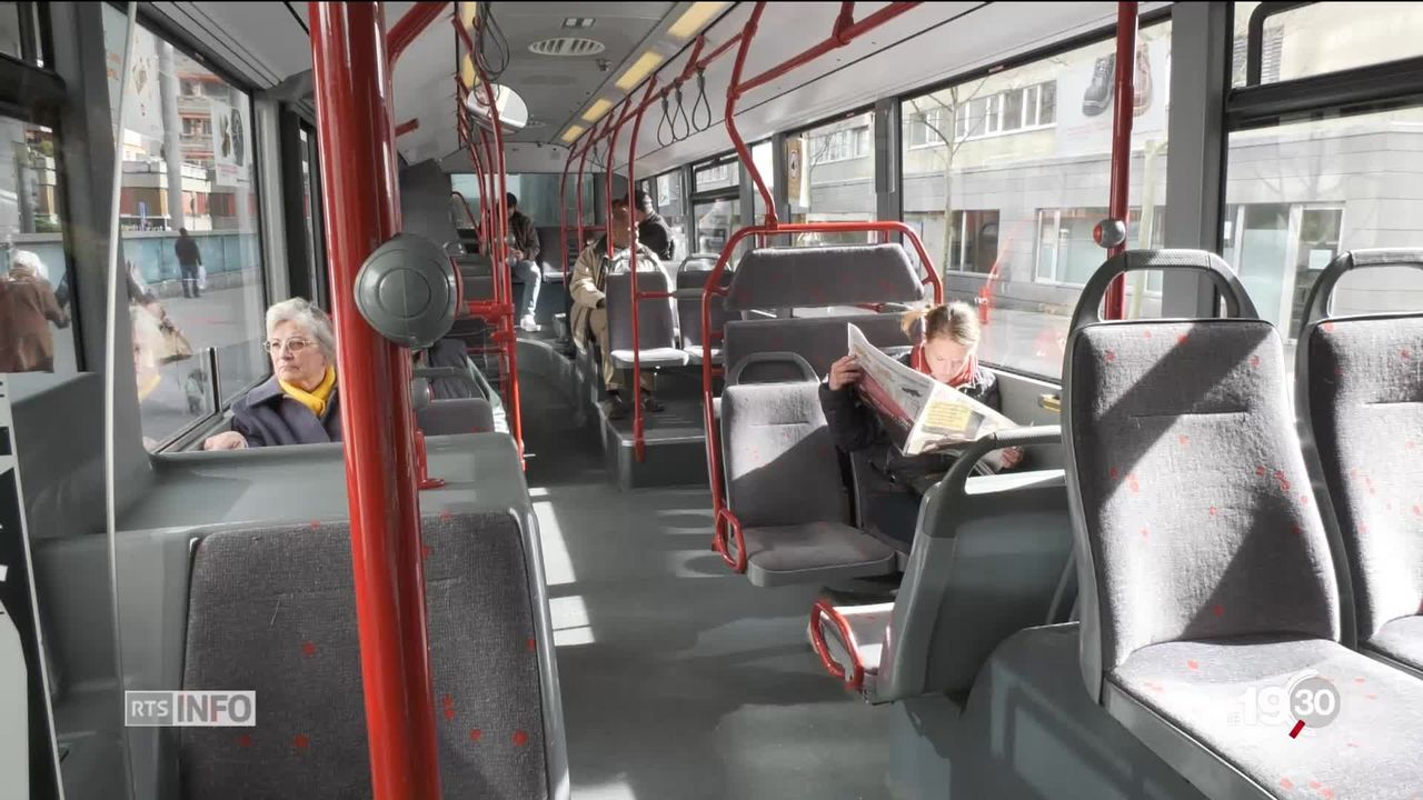 Un chauffeur de bus sur deux souffrirait de stress selon une récente enquête. [RTS]