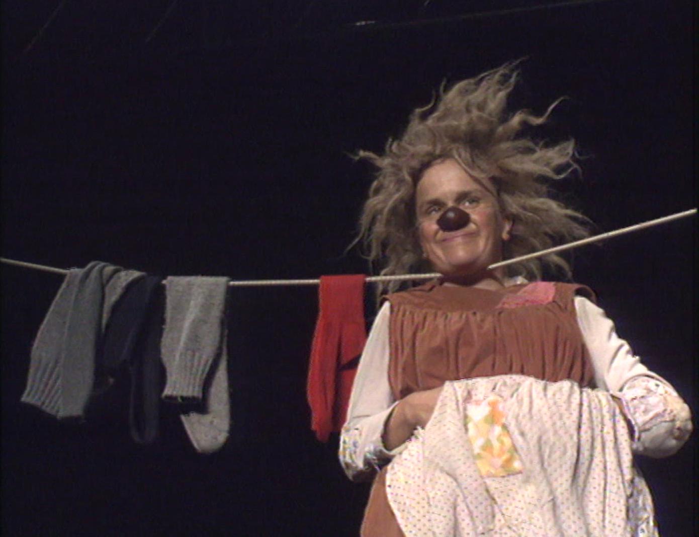 Une femme clown