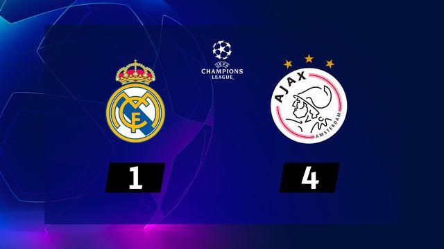 1-8e retour, Real Madrid - Ajax Amsterdam (1-4): le résumé de la rencontre