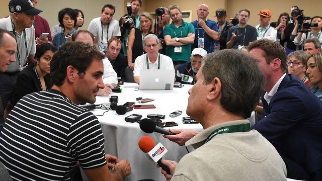 Roger Federer a rempli la salle de presse avant son entrée en lice dans le tournoi californien. [US Today USPW - Reuters]