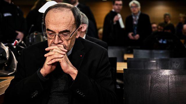 Le cardinal Barbarin lors de son procès à Lyon, le 07.01.2019. [Jeff Pachoud - AFP]