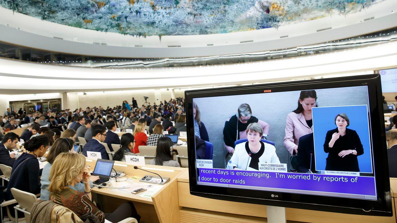 La déclaration a été lancée devant le Conseil des droits de l'homme des Nations Unies par l'Islande. [Salvatore Di Nolfi - Keystone]