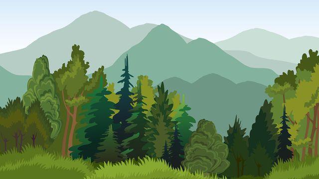Illustration de forêt. [Natuska - Depositphotos]