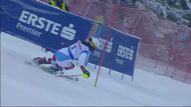 Spindleruv Myln (CZE), slalom dames 1re manche: Wendy Holdener (SUI) [RTS]