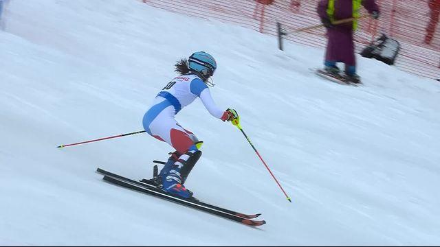Spindleruv Myln (CZE), slalom dames 1re manche: Elena Stoffel (SUI) [RTS]