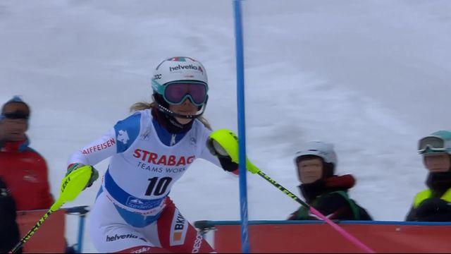 Spindleruv Myln (CZE), slalom dames 2ème manche: Aline Danioth (SUI) [RTS]