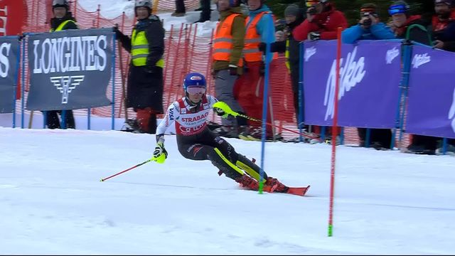 Spindleruv Myln (CZE), slalom dames 2ème manche: Mikaela Shiffrin (USA) [RTS]