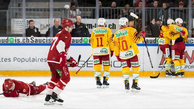 La joie des joueurs de Langnau après le 3-1 signé Glauser [Pascal Muller - Freshfocus]
