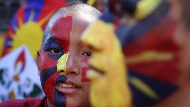 Les partisans du dalaï lama sont en fête. [Sanjay Baid - Keystone]