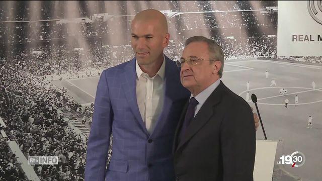 Zinedine Zidane retourne au Real Madrid, neuf mois après sa démission. [RTS]