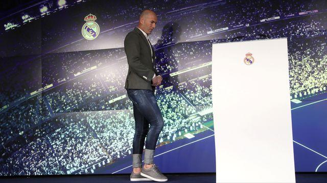 Neuf mois après sa démission, Zinédine Zidane reprend le Real Madrid. [Susana Vera - Reuters]
