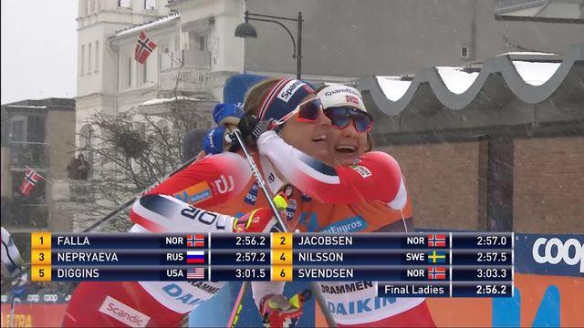 Drammen (NOR), sprint dames: victoire de Maiken Falla (NOR) [RTS]