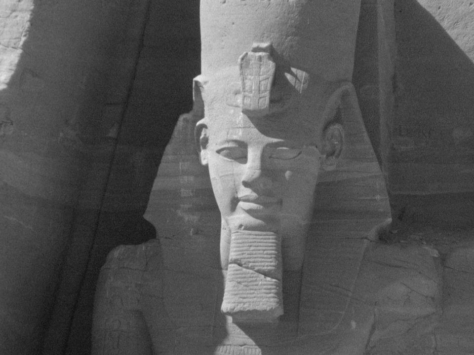 Le site d'Abou Simbel en 1965. [RTS]