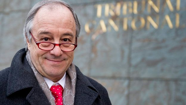 Charles Poncet, avocat, ex-conseiller national PLR GE. [Jean Christophe Bott - Keystone]