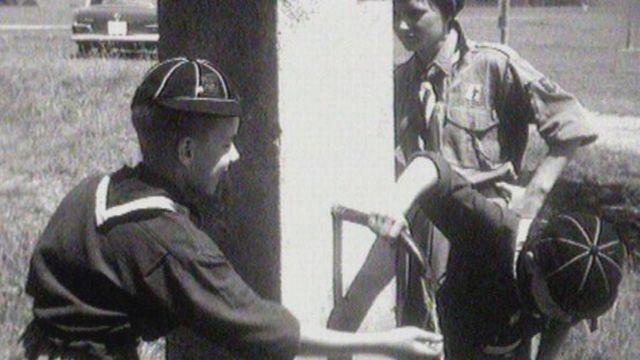 Des jeunes scouts en 1962. [RTS]