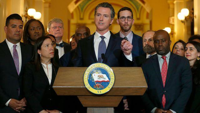 Le gouverneur démocrate de Californie, Gavin Newsom, annonce un moratoire sur les exécutions. [Rich Pedroncelli - Keystone/AP photo]