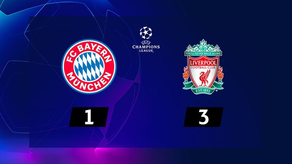 1-8e retour, Bayern Munich - Liverpool (1-3): le résumé de la rencontre