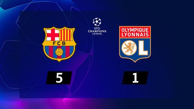 1-8e retour, Barcelone - Lyon (5-1): le Barca passe en 1-4 avec un Messi de gala
