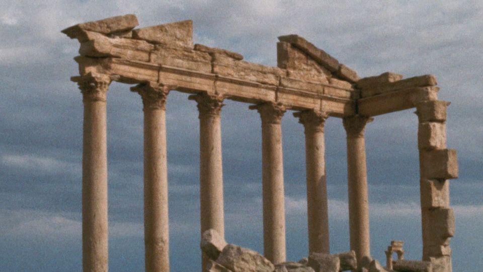 Le site archéologique de Palmyre en 1969. [RTS]