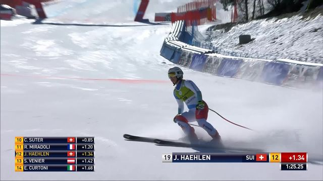 Soldeu (AND), Super-G dames: Joana Hählen (SUI) [RTS]