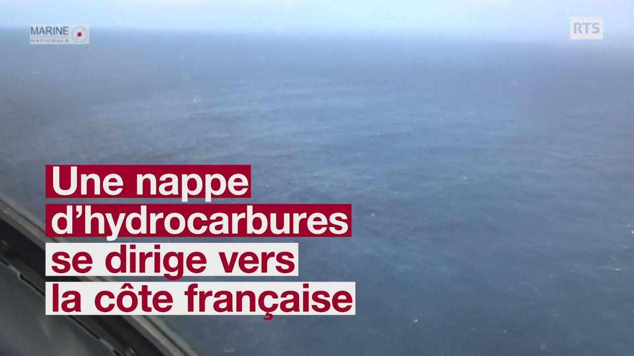 Des nappes d'hydrocarbure près des côtes françaises [RTS]