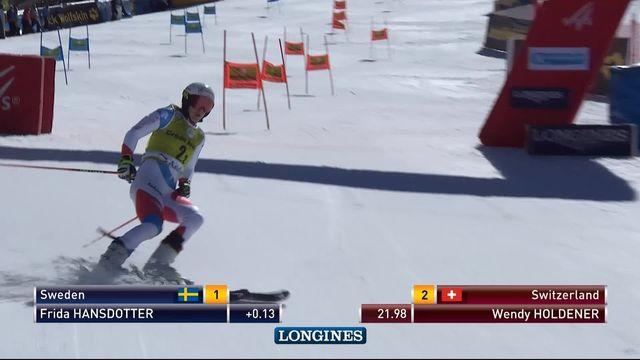 Soldeu (AND), team event, quarts: Wendy Holdener donne l'avantage à la Suisse face à Frida Hansdotter [RTS]