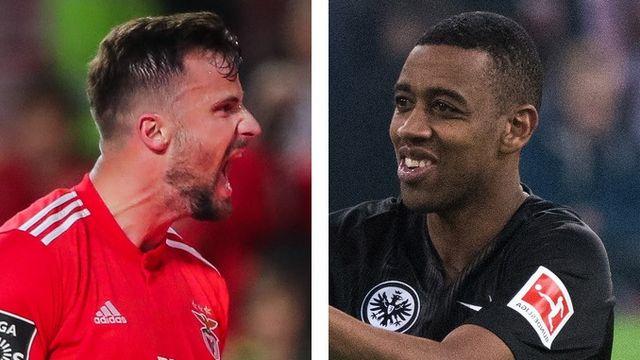 Haris Seferovic et Gelson Fernandes se retrouveront en quarts de finale. [Miguel A. Lopes / Federico Gambarini - Keystone]