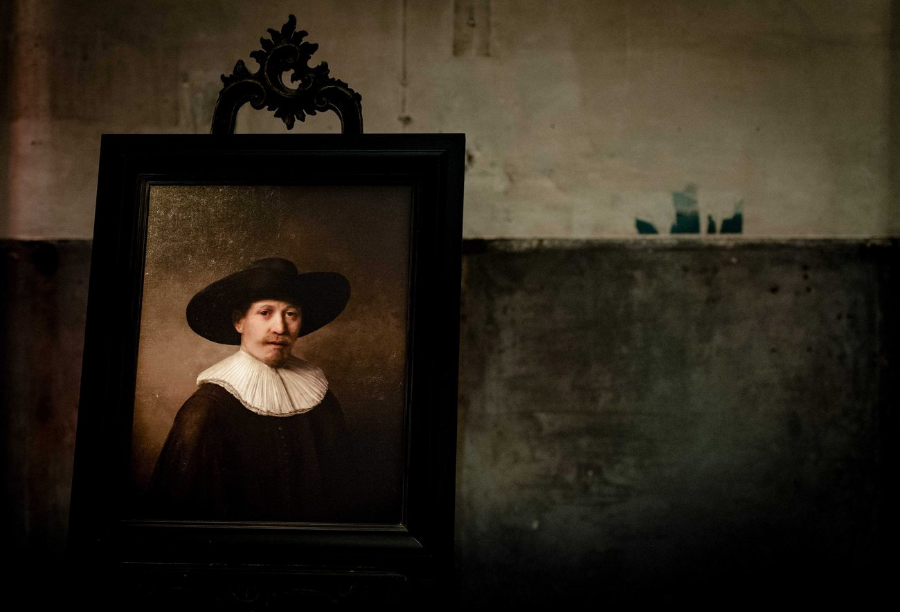 """The Next Rembrandt"", photographié à Amsterdam le 5 avril 2016."