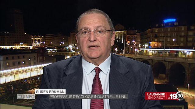 """Suren Erkman """"Belle opération de mobilisation, mais aussi d'instrumentalisation. Il ne faut pas être trop naïfs."""" [RTS]"""