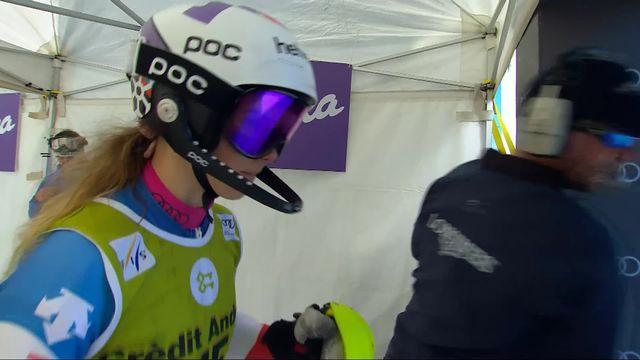 Soldeu (AND), Slalom dames, 1re manche: 10e place provisoire pour Danioth (SUI) [RTS]