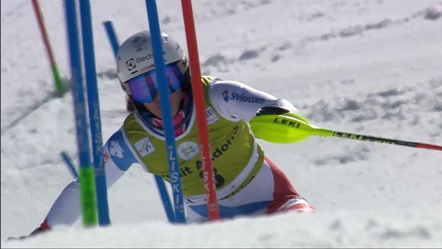 Soldeu (AND), Slalom dames, 2e manche: la deuxième place pour Holdener (SUI) [RTS]