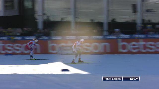 Falun (SUE), finale sprint dames; victoire de Stina Nilsson (SUE) [RTS]