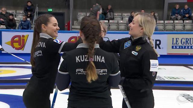 Championnat du monde dames, Russie - Suisse (11-5): la Suisse s'incline [RTS]