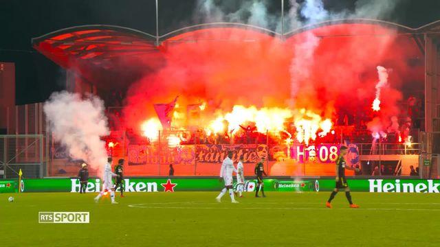 Super League, 25e journée: Sion - Grasshopper (2-0): match annulé en raison de débordements [RTS]