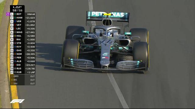 GP d'Australie (#1): la victoire pour Bottas (FIN), Hamilton (GBR) 2e et Verstappen (NED) 3e [RTS]