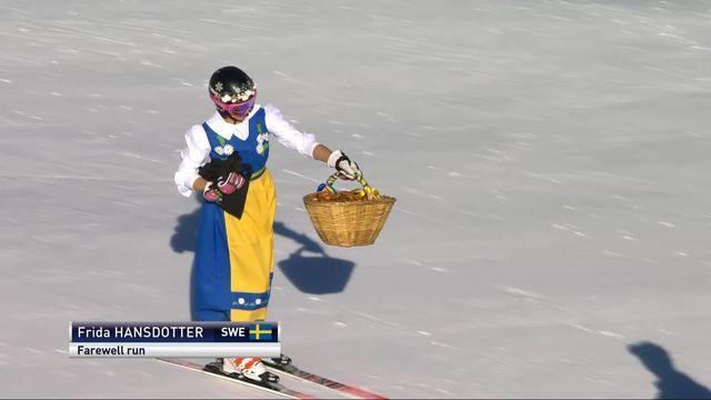 Soldeu (AND), Géant dames, 1re manche: la dernière course en carrière de Hansdotter (SUE) [RTS]