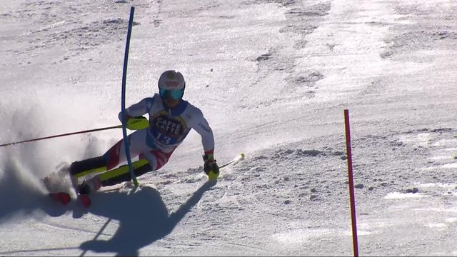 Soldeu (AND), slalom messieurs, 2e manche: Loic Meillard (SUI) [RTS]