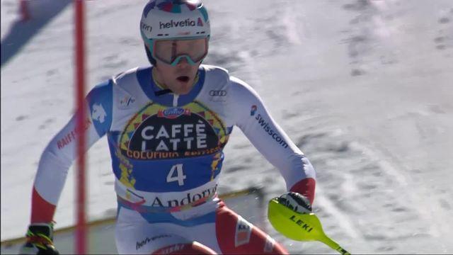 Soldeu (AND), slalom messieurs, 2e manche: Daniel Yule (SUI) [RTS]