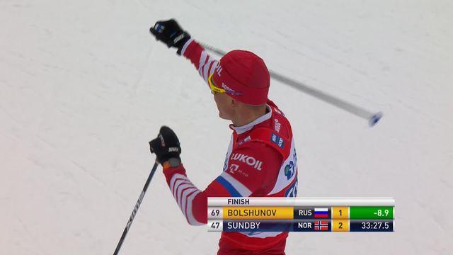 Falun (SUE), 15 km messieurs: Alexander Bolshunov (RUS) [RTS]