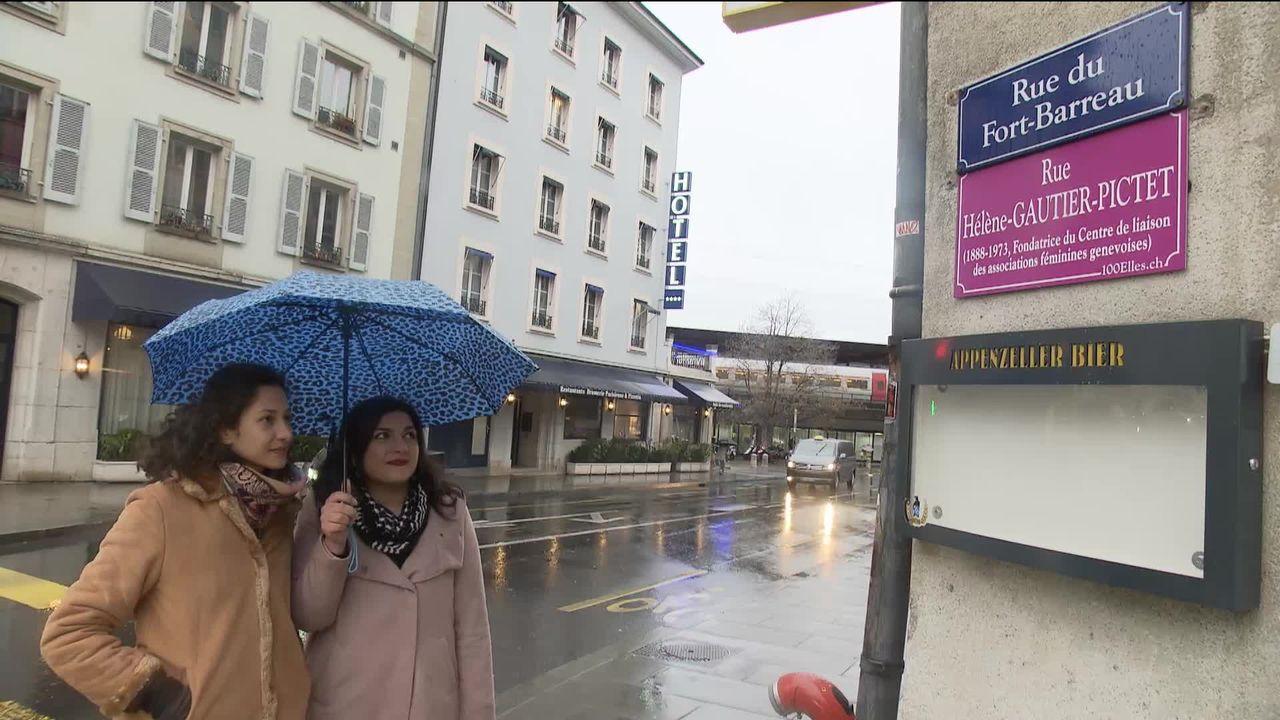 En Suisse romande, moins d'une rue sur dix porte le nom d'une femme [RTS]